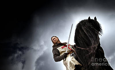 Templar Knight Friesian II Poster by Holly Martin