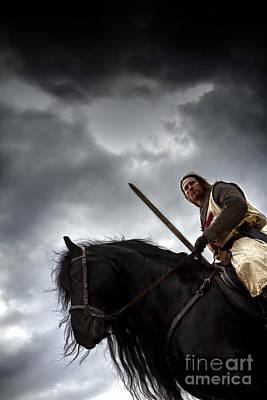 Templar Knight Friesian Iv Poster by Holly Martin