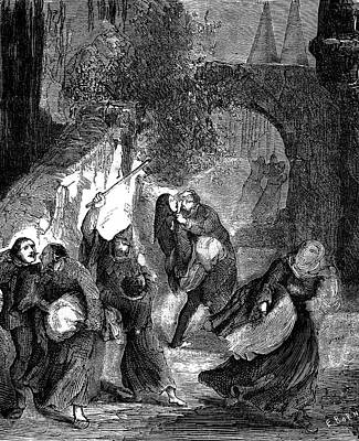 Templar Secret Society Attacking Jews Poster