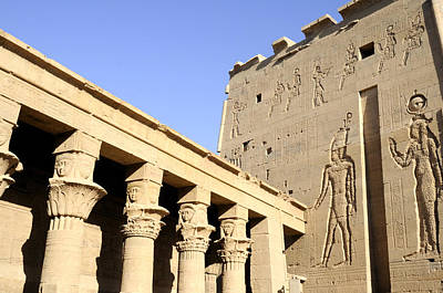 Temple At Philae In Egypt Poster by Brenda Kean