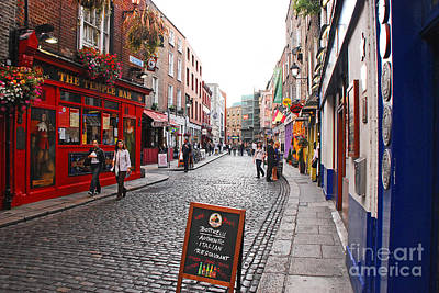 Temple Bar Poster by Mary Carol Story