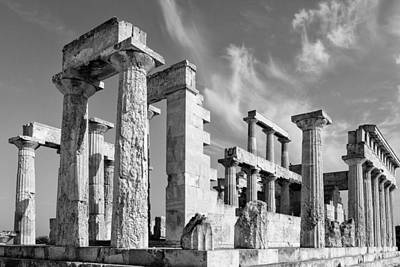 Temple Of Aphaea On Aegina In Greece Poster by Paul Cowan