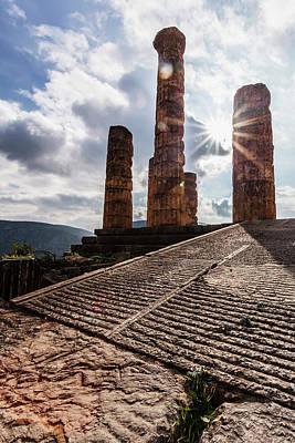 Temple Of Apollo  Delphi, Greece Poster