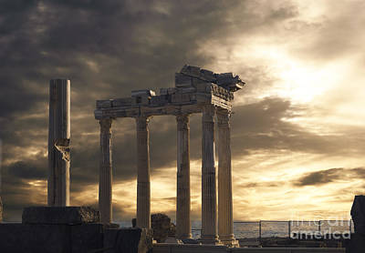 Temple Of Apollo In Side Poster