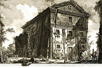 Temple Of Bacchus Rome 1746 Poster by Padre Art