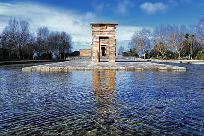 Temple Of Debod Poster by Joan Carroll