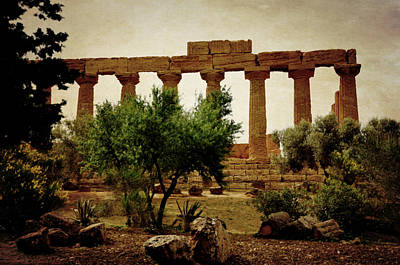 Temple Of Juno Lacinia In Agrigento Poster