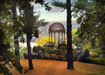 Temple Of Love In Autumn Poster