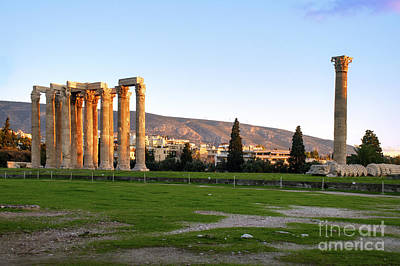 Temple Of Olympian Zeus. Athens Poster by Ilan Rosen