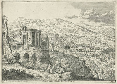 Temple Of Sibyl In Tivoli, Hendrik Frans Van Lint Poster