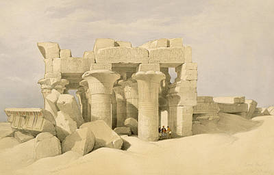 Temple Of Sobek And Haroeris At Kom Ombo Poster by David Roberts