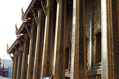 Temple Of The Emerald Buddha - Grand Palace In Bangkok Thailand - 011312 Poster by DC Photographer