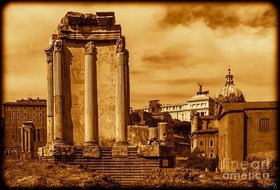Temple Of Vesta Poster