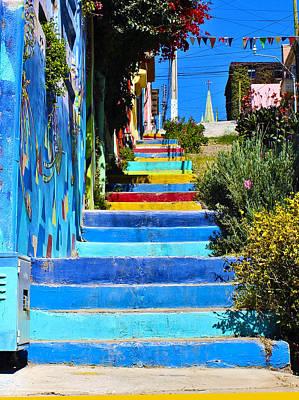 Templeman Street Valparaiso Chile Poster by Kurt Van Wagner