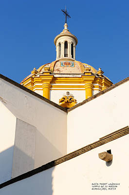 Poster featuring the photograph Templo De La Merced Guadalajara Mexico by David Perry Lawrence