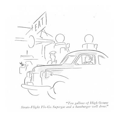 Ten Gallons Of High Octane Strato-flight Flo-go Poster by Ned Hilton