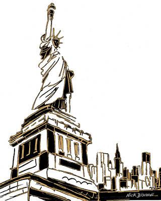 Tenement Liberty Poster by Nicholas Biscardi