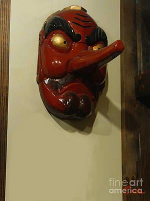 Tengu Goblin Japanese Poster by Feile Case