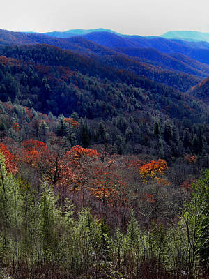 Tennessee Mountains Poster by Skip Willits