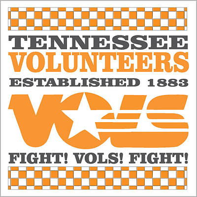 Tennessee Volunteers Fight Poster by Debbie Karnes