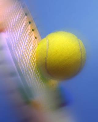 Tennis Ball And Racquet Poster by Science Photo Library