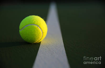 Tennis Ball At Last Light Poster by David Lee