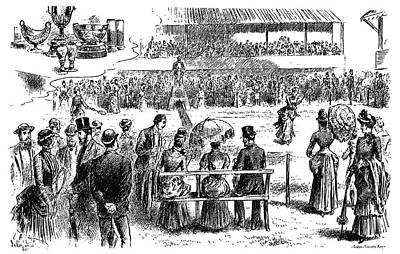 Tennis Wimbledon, 1884 Poster