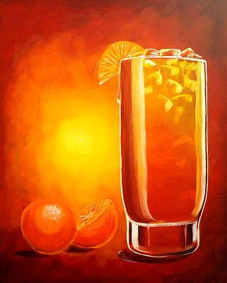 Poster featuring the painting Tequila Sunrise by Darren Robinson