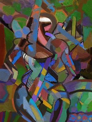 Poster featuring the digital art Terra by Clyde Semler