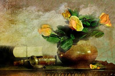 Terra Cotta Rose Poster
