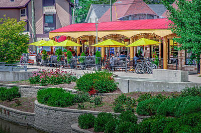 Terrace Dining On The Monon Trail Poster