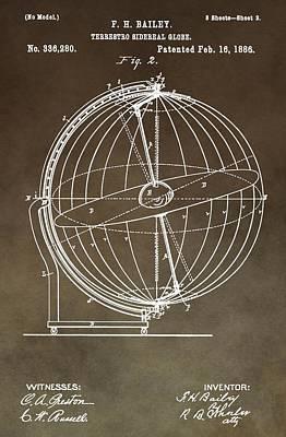 Terrestro Sidereal Globe Poster