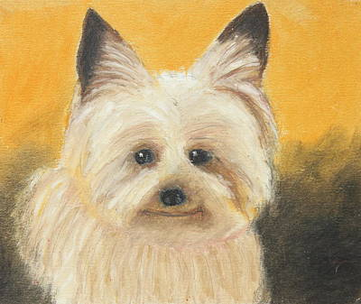 Poster featuring the painting Terrier by Jeanne Fischer