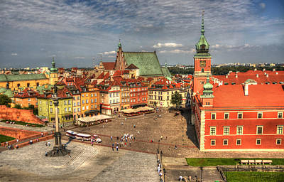 Terrific Warsaw - The Castle And Old Town View Poster by Julis Simo
