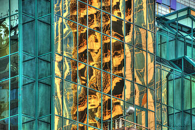 Terrific Warsaw Under Construction Glass Reflections Poster