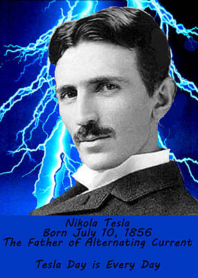 Tesla Day Is Every Day Poster