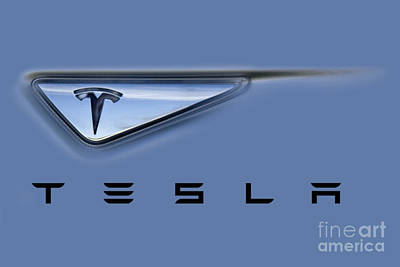 Tesla Model S Poster by David Millenheft