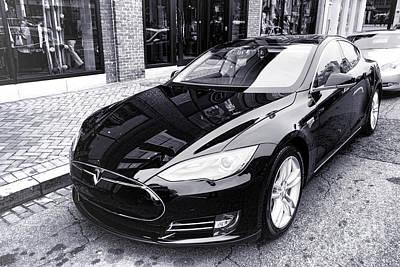 Tesla Model S Poster by Olivier Le Queinec