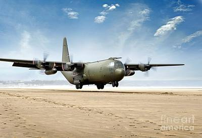 Test Landing By A C-130 Mk3 Hercules Transport Aircraft Poster