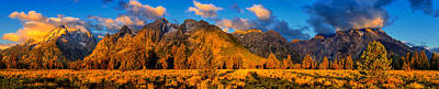 Poster featuring the photograph Teton Mountain View Panorama by Greg Norrell