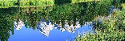 Teton Range Reflected In Moose Ponds Poster by Panoramic Images