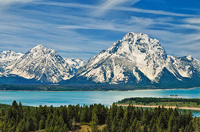 Teton Spring II Poster by Greg Norrell