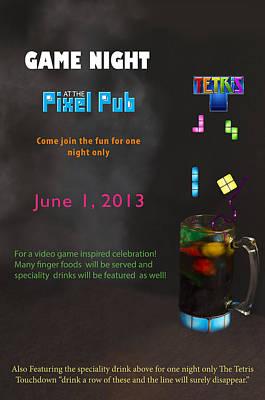 Tetris Touchdown Poster Poster by Teri Schuster