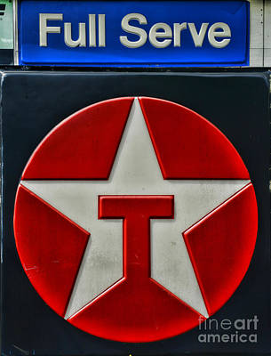 Texaco Gas Sign Full Serve Poster