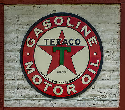 Texaco Sign Poster by Paul Freidlund