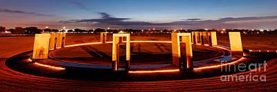 Texas A And M Bonfire Memorial At Dawn - College Station Texa Poster by Silvio Ligutti
