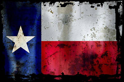 Texas Battle Flag Poster by Daniel Hagerman