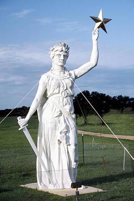 Texas Goddess Of Liberty Poster by Jim Smith