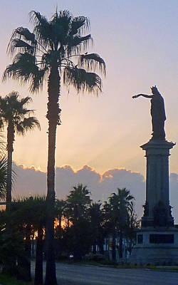 Texas Heros Monument - Galveston Poster
