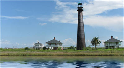 Poster featuring the photograph Texas Lighthouse by Cecil Fuselier